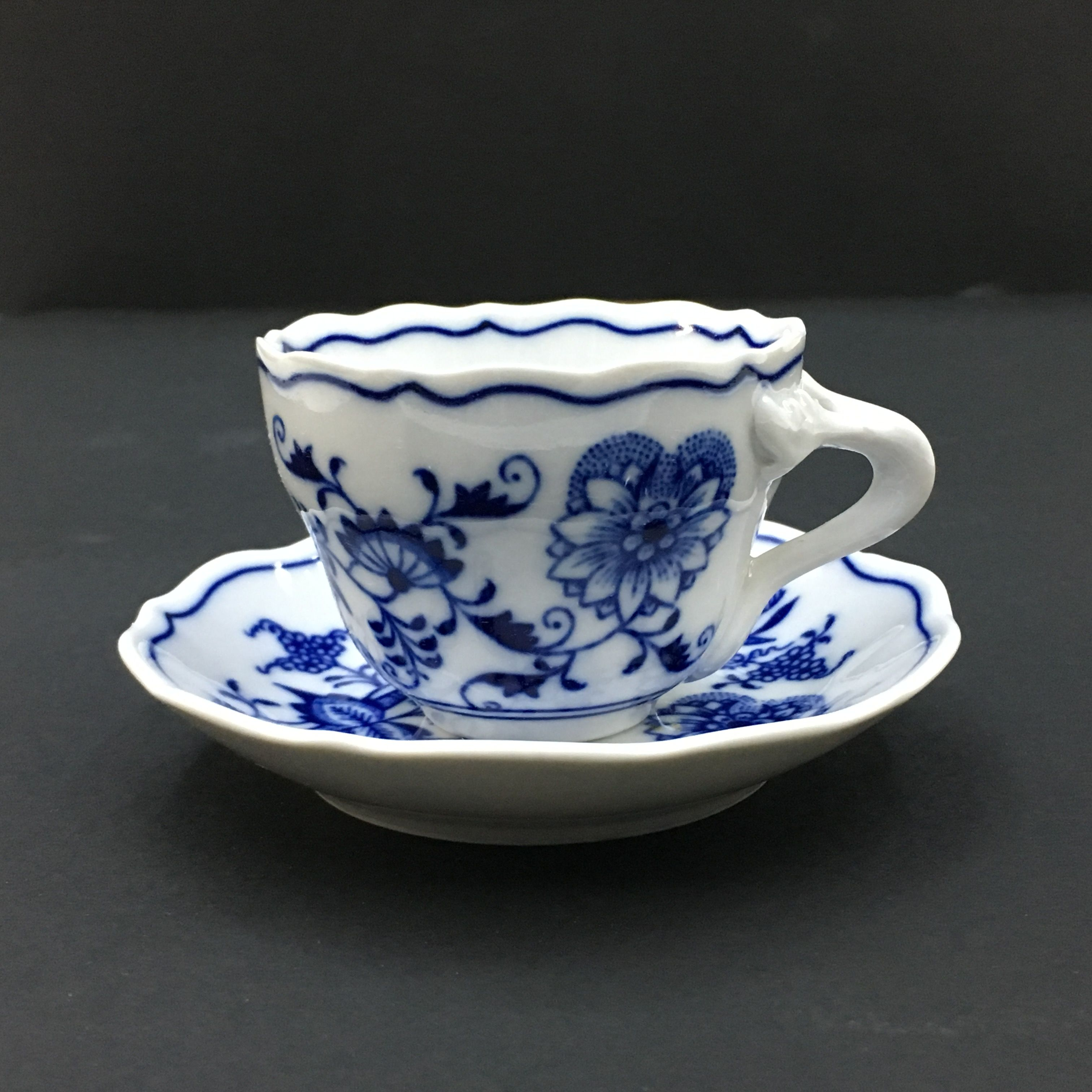 Blue Onion Coffee cup and Saucer Coffee cups, saucers