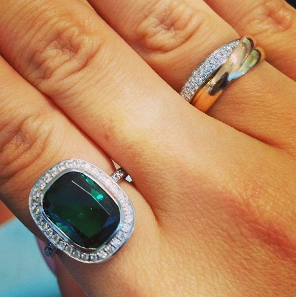 Emerald and diamond cartier trinity ring Jewellery Pinterest