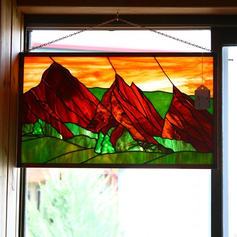 Stained Glass Mountain Mountain Scene I Love Stained Glass