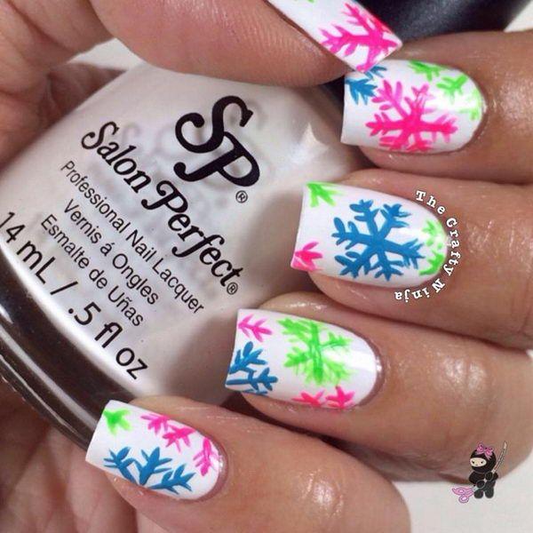 20 cool snowflake nail art designs snowflake nail art snowflake 20 cool snowflake nail art designs prinsesfo Images