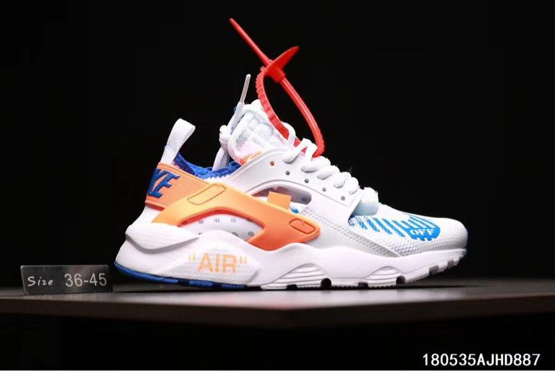 Men Women Off White x Nike Air Huarache Shoes White Orange - http    722ee027d