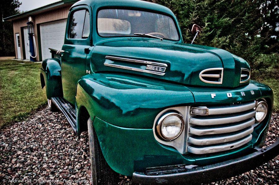 Green Ford stepside pickup