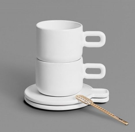 New 3D printed products added to OTHR's product range, including a cup, saucer and spoon