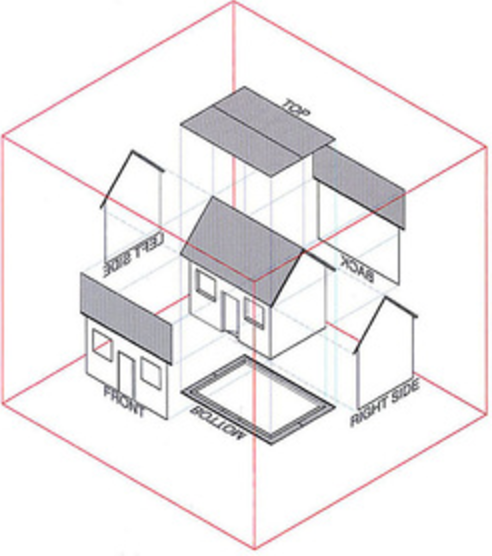 KYUCHAN LEE Indicate A Simple Orthographic Drawing For House It Is But Also Shows Clear Example Of Architecture