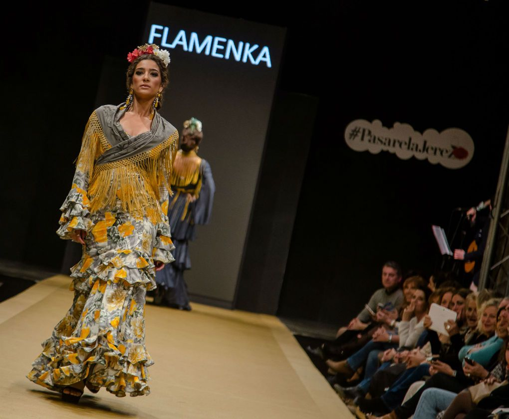 Desfile de Flamenka en la Pasarela Flamenca de Jerez 2017. Foto: Cristian Cantizano Fotography