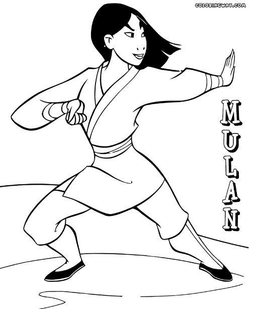 Mulan Coloring Pages Princess Coloring Pages Coloring Pages Disney Coloring Pages