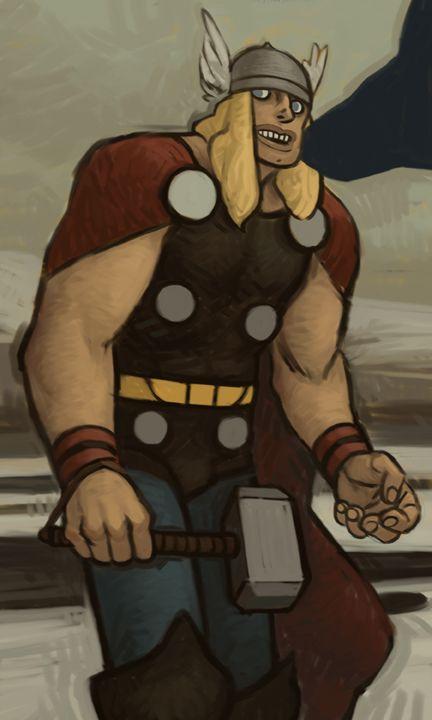 Thor by artist Chris Johnston
