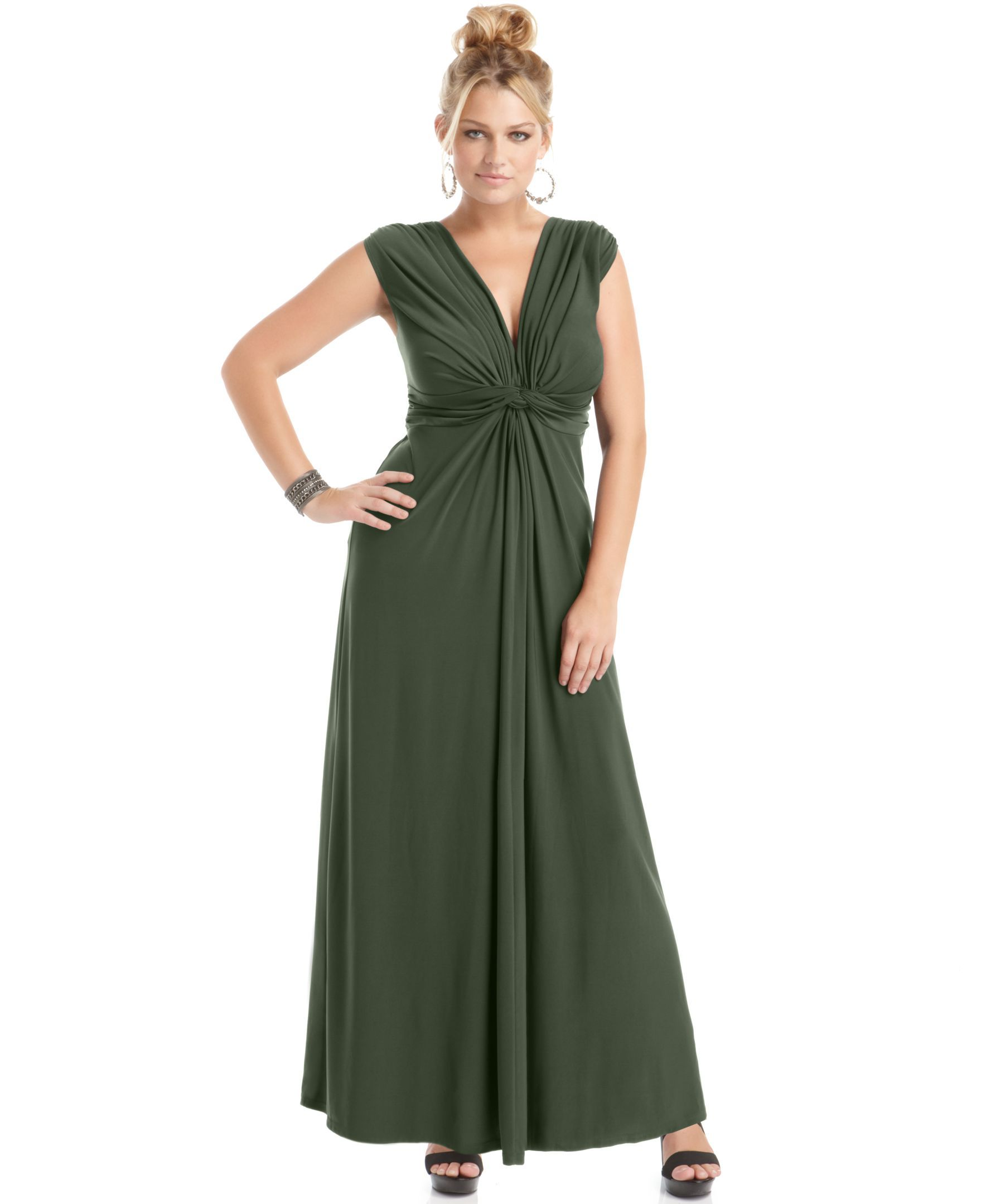 44304e197bd11 Love Squared Plus Size Sleeveless Knotted Maxi Dress - Trendy Plus Sizes - Plus  Sizes - Macy s
