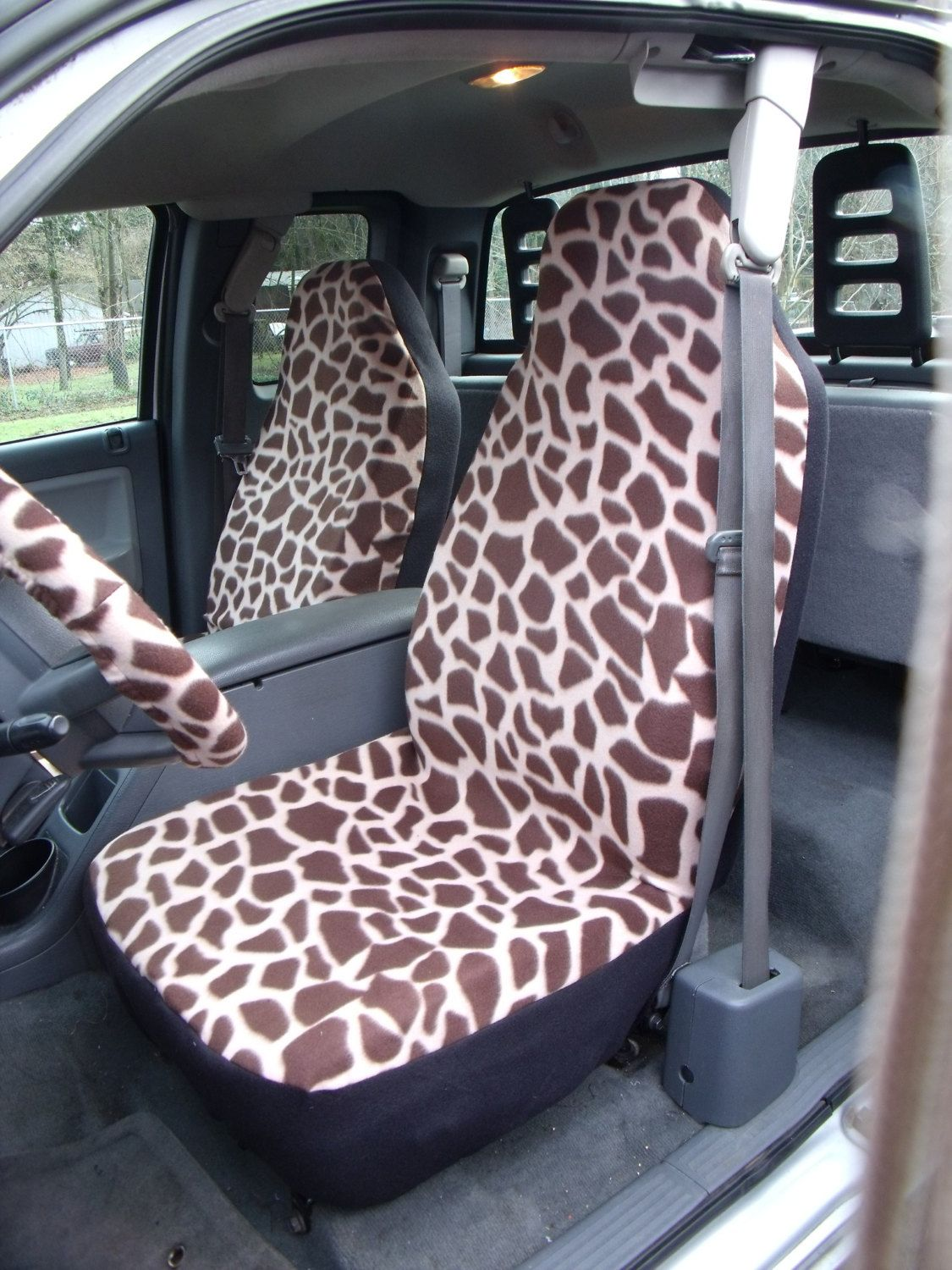Surprising 1 Set Of Giraffe Print 3 Car Seat Covers And 1 By Alphanode Cool Chair Designs And Ideas Alphanodeonline
