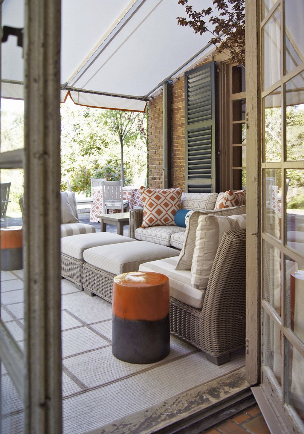 Enticing Outdoor Terrace Designed Bradshaw Orrell
