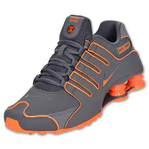 8e0dc40e645f Mens Nike Shox NZ Dark Grey Total Orange