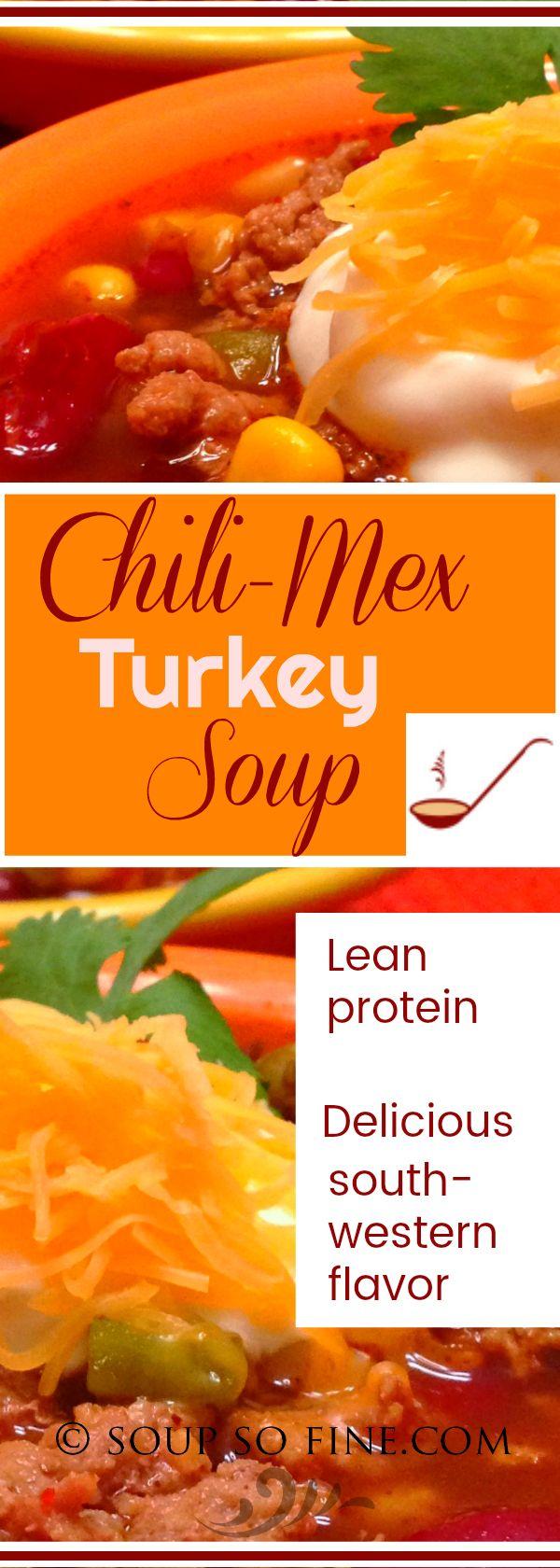 Chili-Mex Turkey Soup -   16 ground recipes kidney beans ideas