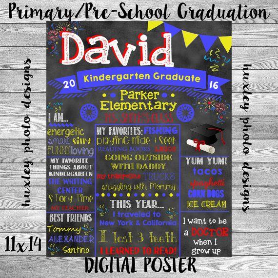 Primary Pre School Graduation Board Digital By Huxleyphotodesigns