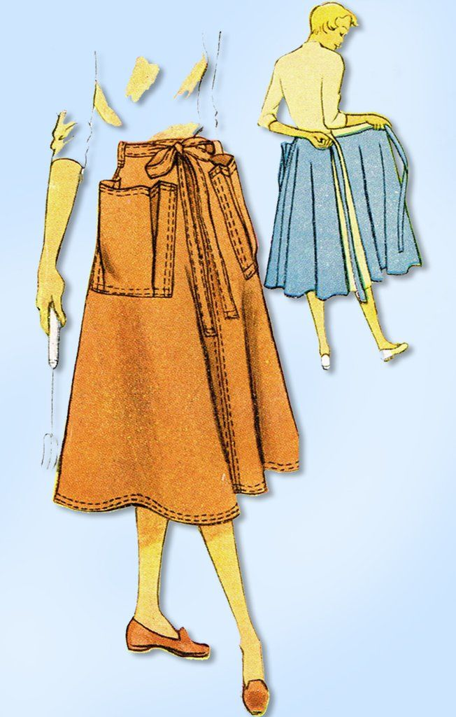 1950s Vintage Mccalls Sewing Pattern 8624 Plus Size Wrap