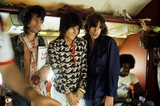 thisaintnomuddclub: The Rolling Stones on their private plane in Kansas City 1975. Photos by Ken Regan