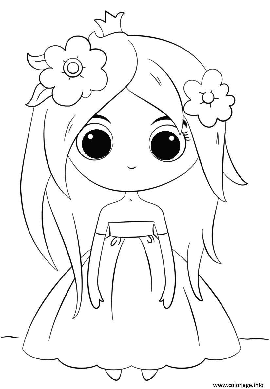 22 Premier Coloriage Kawaii A Imprimer Stock  Princess coloring