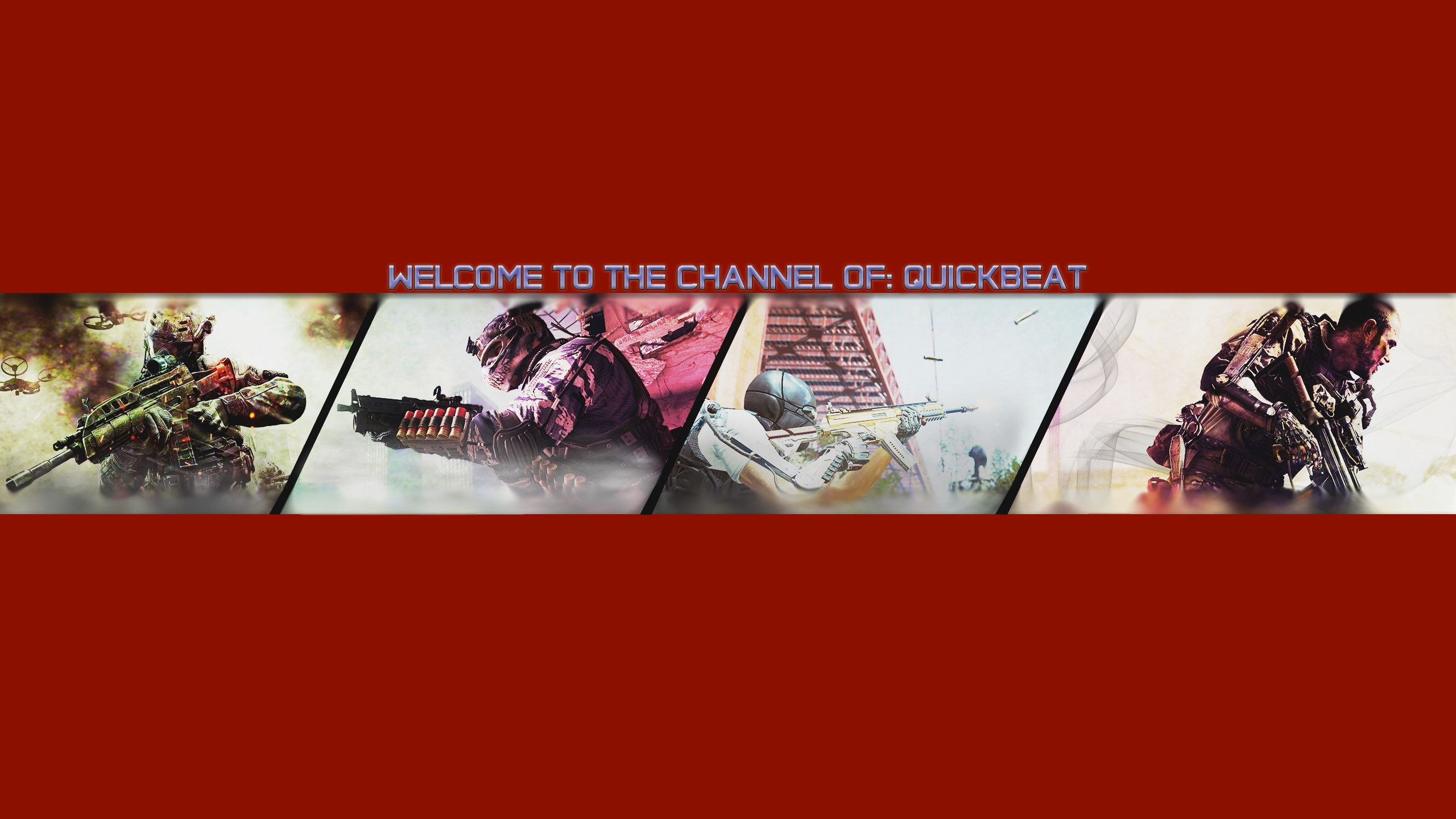 2560x1440 Call Of Duty Youtube Banner By Quickbeat In 2020