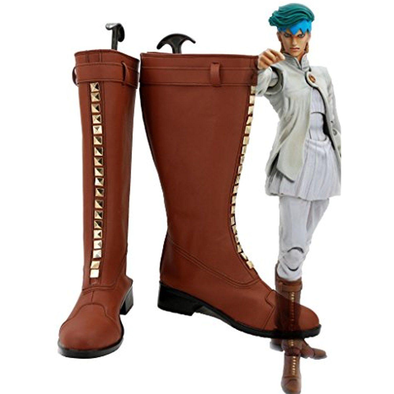 JOJO'S BIZARRE ADVENTURE 4 Rohan Kishibe Boots Cosplay Shoes Boots Custom Made 2