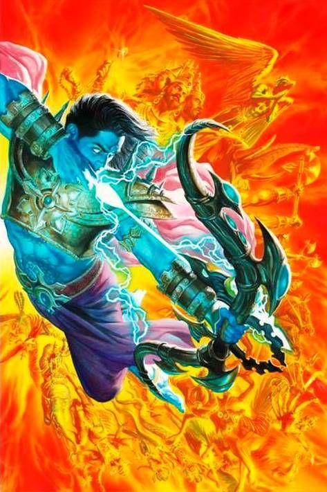 Lord Rama ready to unleash the final arrow on Ravan