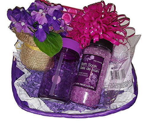 Birthday Basket Gift Bundle Set Purple Bath  Body >>> See this great product. (Note:Amazon affiliate link)