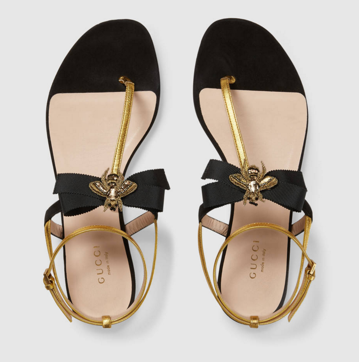 bbd5774d848 Gucci bee sandals