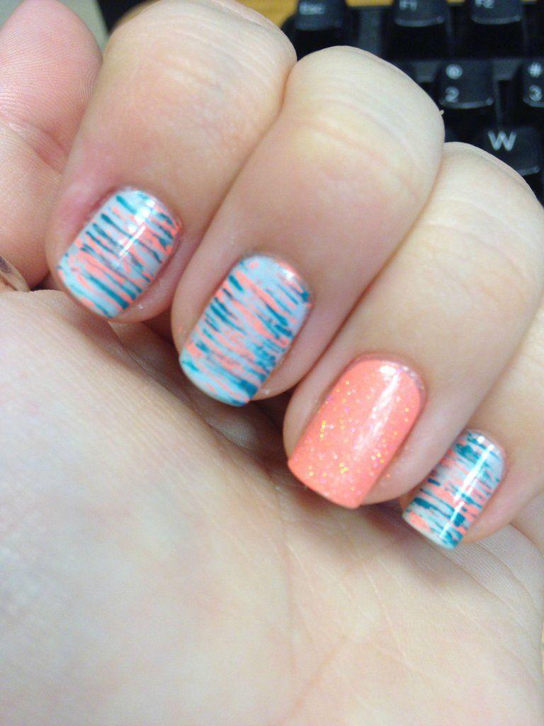 Fan Brush Nails | Nail Ideas | Pinterest | Fan brush nails, Fan ...