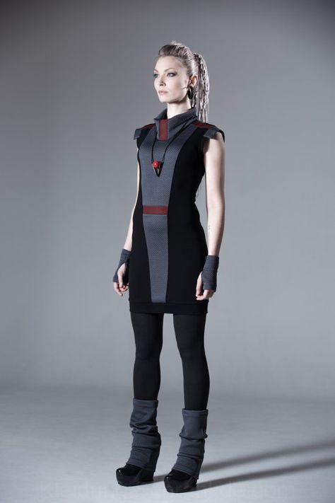 Photo of Abito con cappuccio cyberpunk, maglione lungo, abbigliamento futuristico cyberpunk, …