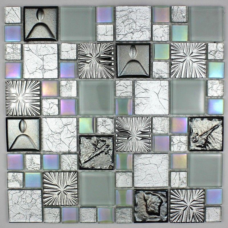 baldosas de vidrio para pared de la cocina y la pared del baño mos