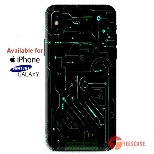 Technology Circuit Dark iPhone X Cases, iPhone Cases, Samsung Galaxy Cases, teescase 337 - TeesCase