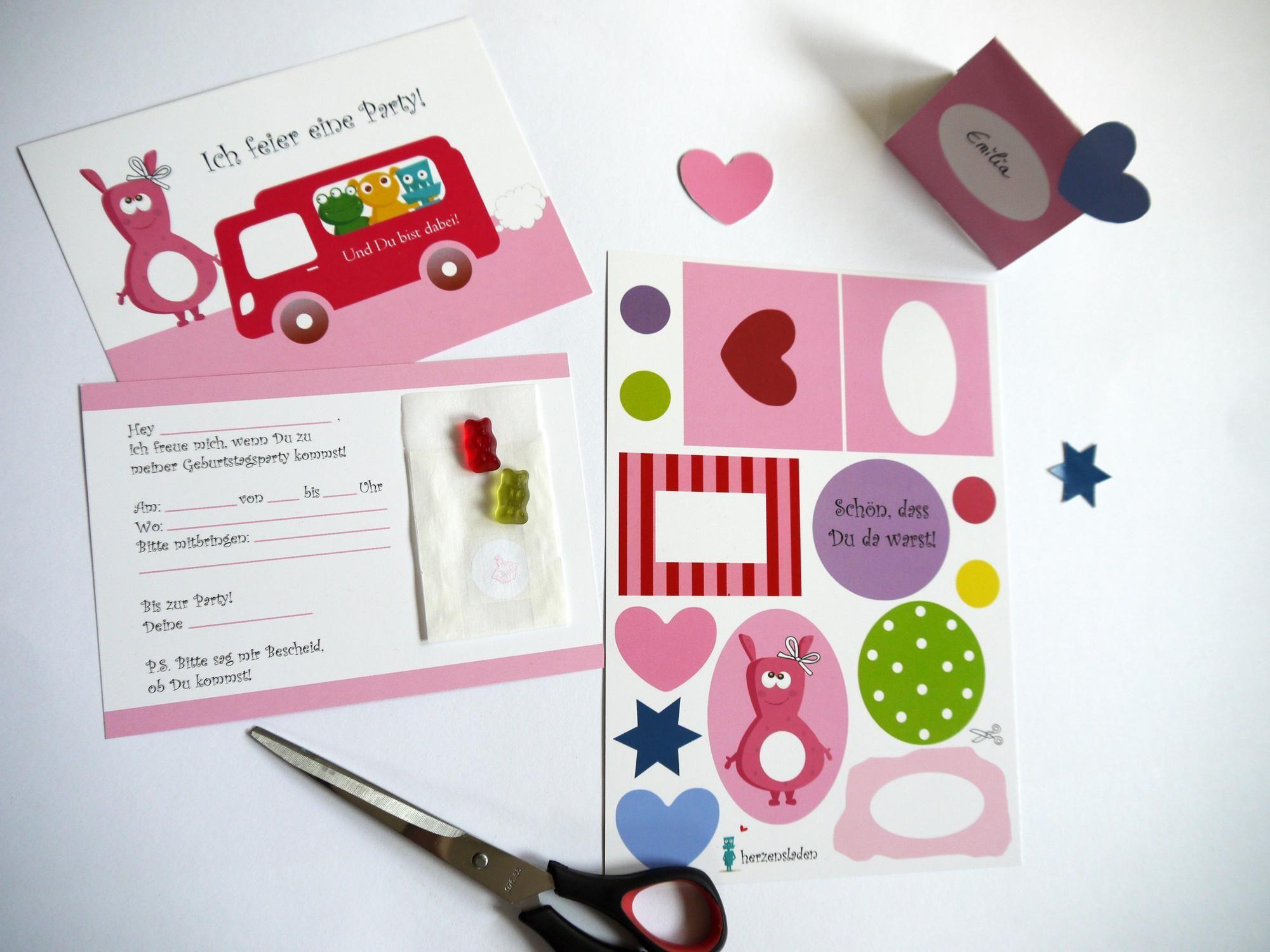 einladungskarten kindergeburtstag vorlagen : einladungskarten, Einladung