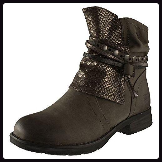 TOM TAILOR Damen 3795612 Biker Boots, Noir (Black), 36 EU