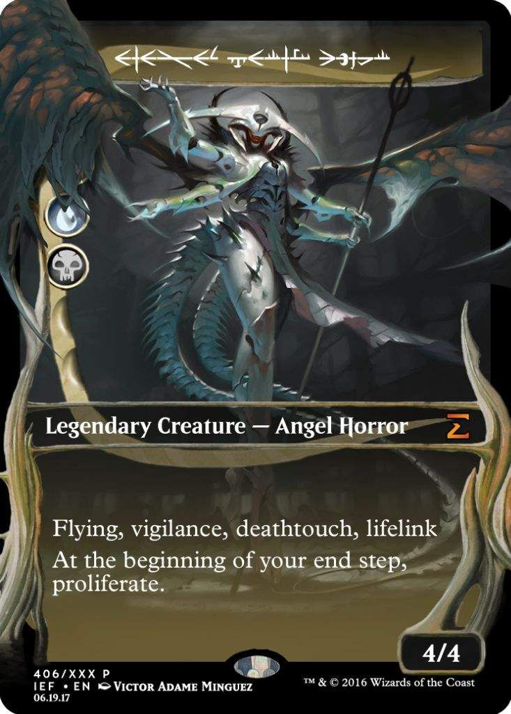 atraxa praetor's voice custom phyrexian masterpiece frame