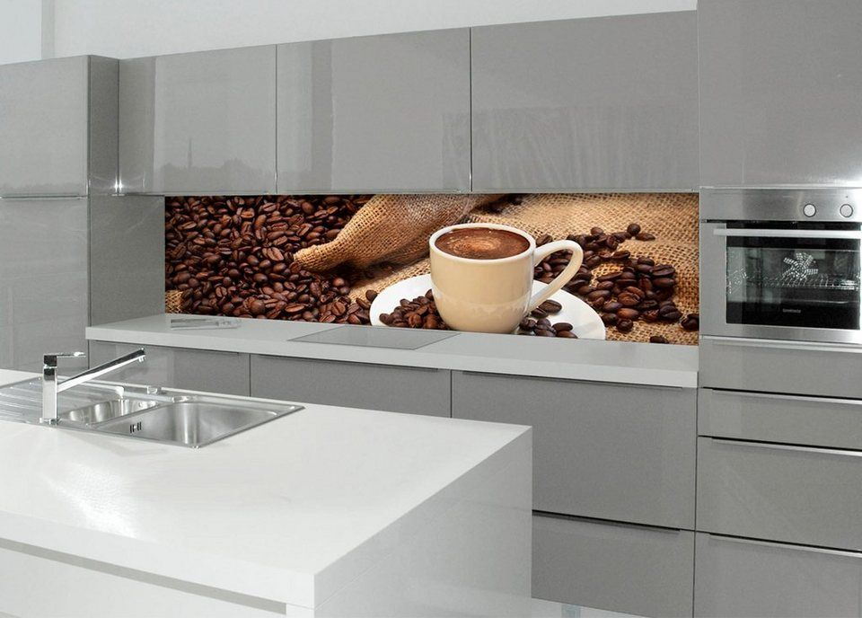 Küchenrückwand Spritzschutz »profix«, Kaffeepause