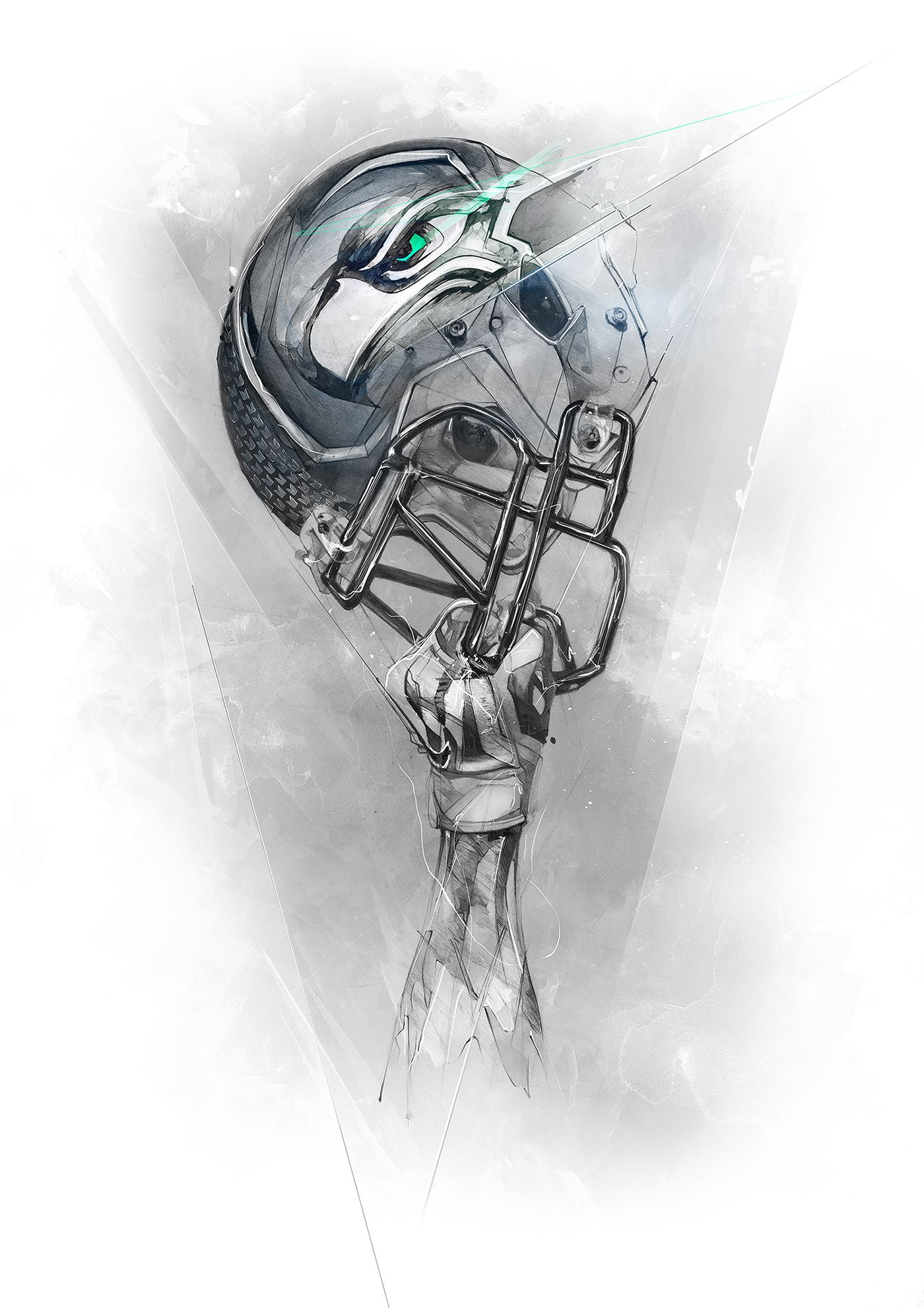 Commissioned work by nike to design tees for nfl and ncaa teams