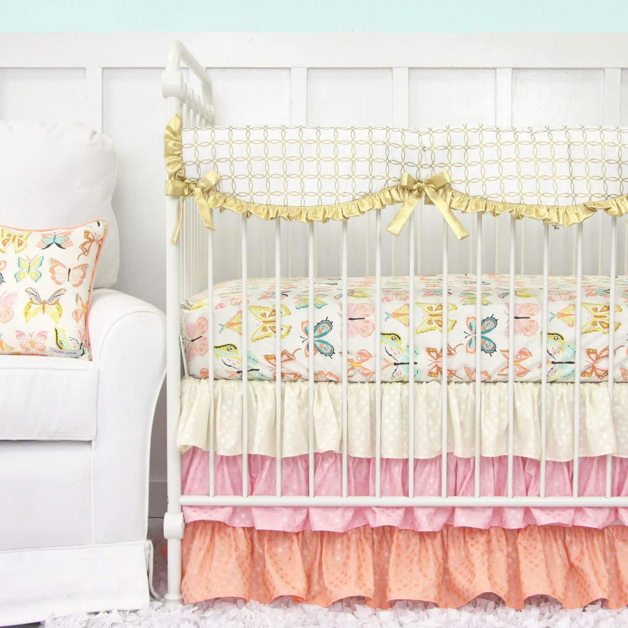 Pastel Nursery Bedding Sets: Bright Pastel Collection In Peach