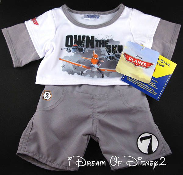 BUILD-A-BEAR NEW DISNEY/PIXAR 'PLANES' SET SHIRT & PANTS BOY TEDDY CLOTHES #BuildABearWorkshopDisney