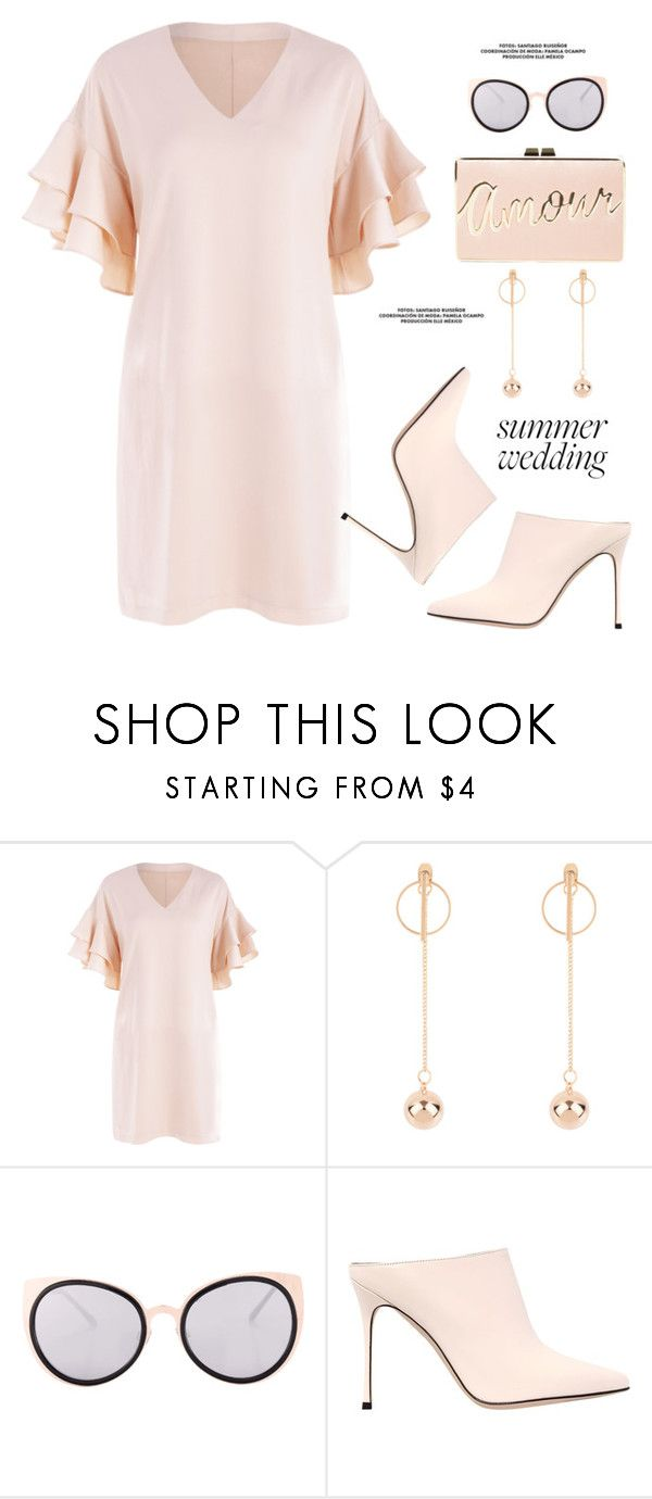 """""""Summer Weddings"""" by paculi ❤ liked on Polyvore featuring Sergio Rossi, BCBGMAXAZRIA and summerwedding"""