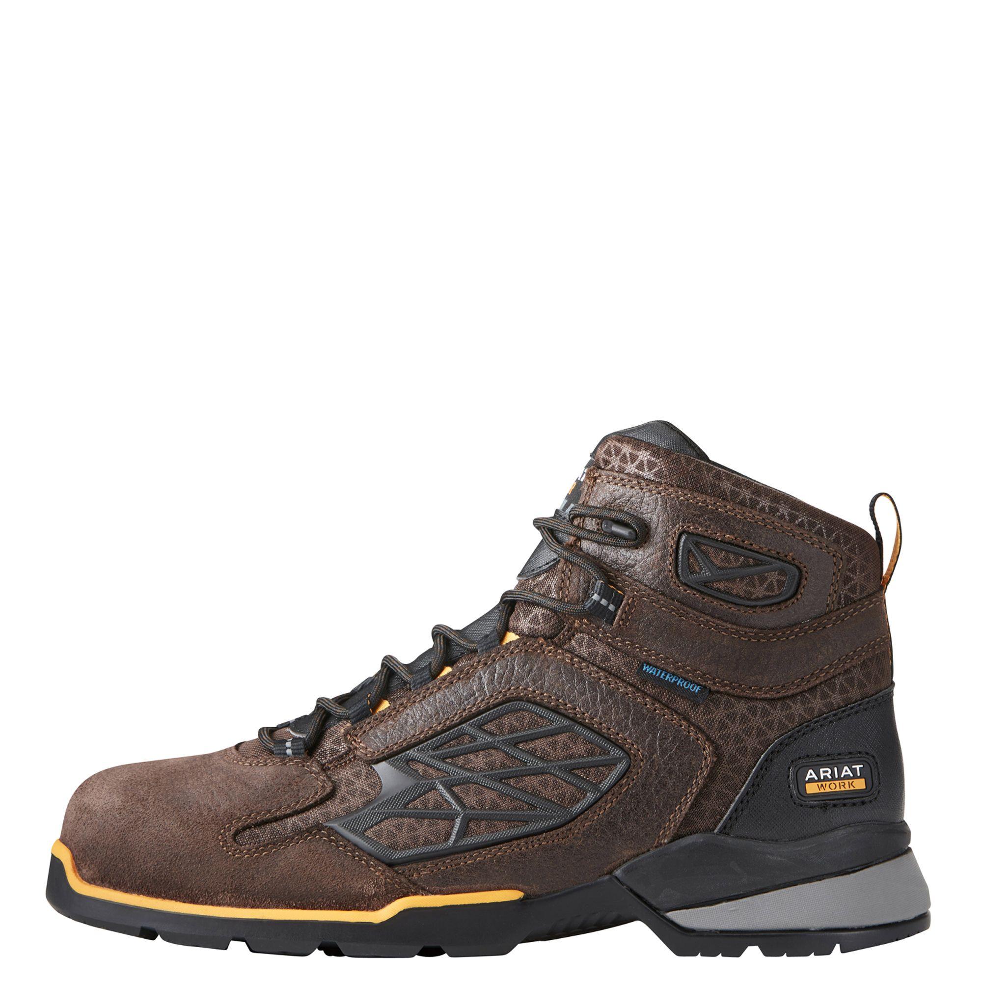 Rebar Flex 6 Waterproof Composite Toe Work Boot Composite Toe Work Boots Boots Dark Brown Leather