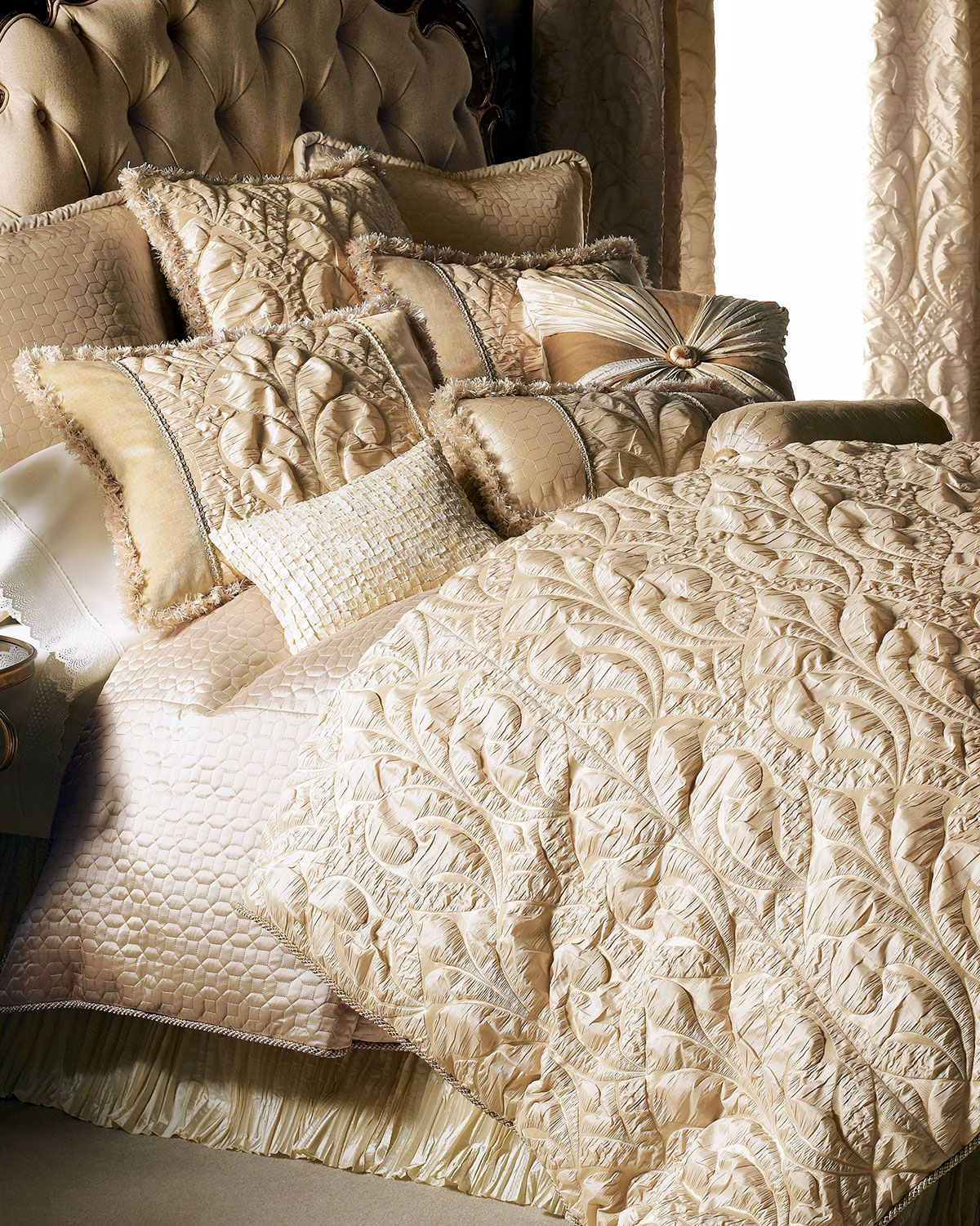 Dian Austin Couture Home Neutral Modern Bedding Luxury Bedding