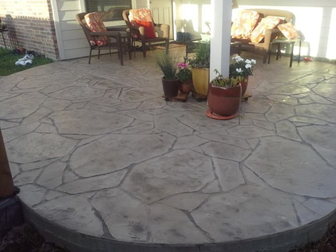 Stamped Concrete Designs | Stamped Concrete Patio Houston TX