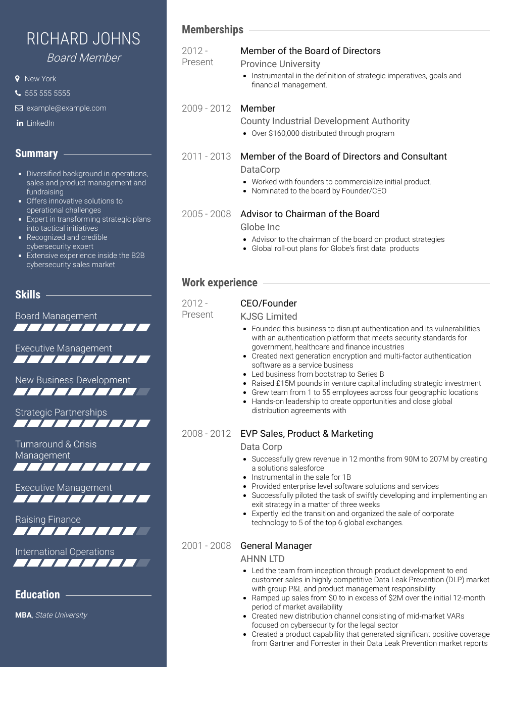 resume template doc free Professional in 2020 Resume