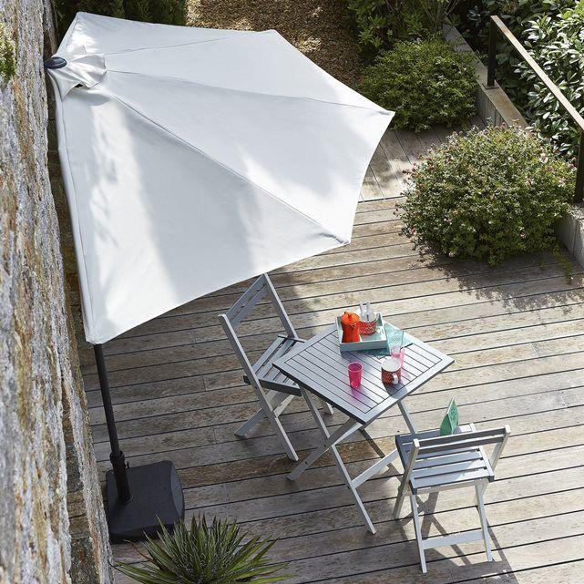 Set De Jardin Avec 1 Table Et 2 Chaises Pliantes La Redoute Interieurs Patio Backyard Pergola Patio Umbrella