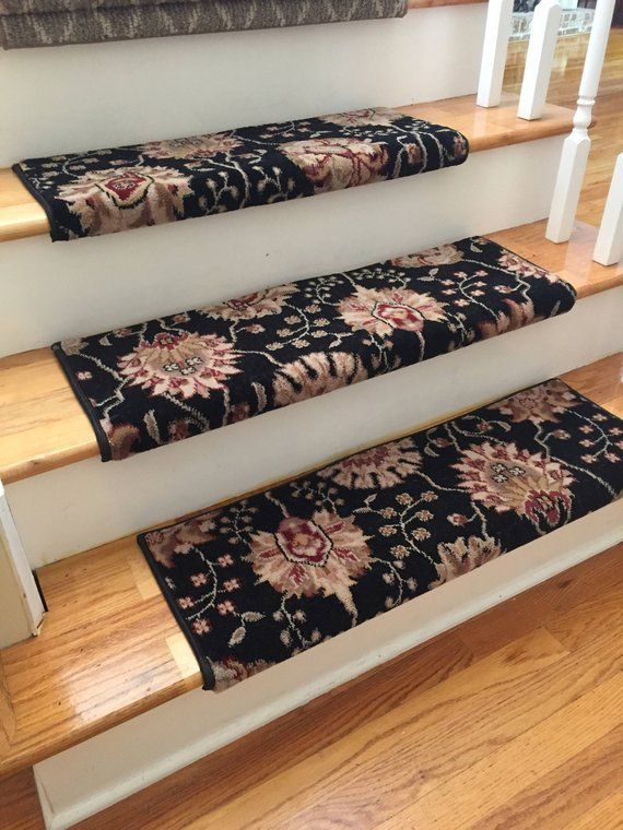 Best Authentic Wool Midnight True Bullnose™ Carpet Stair Tread 400 x 300