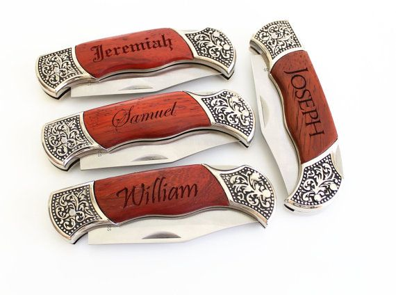 Wedding Present Knives : ... gift Folding knife Personalized Groomsmen gift Custom wedding gift on