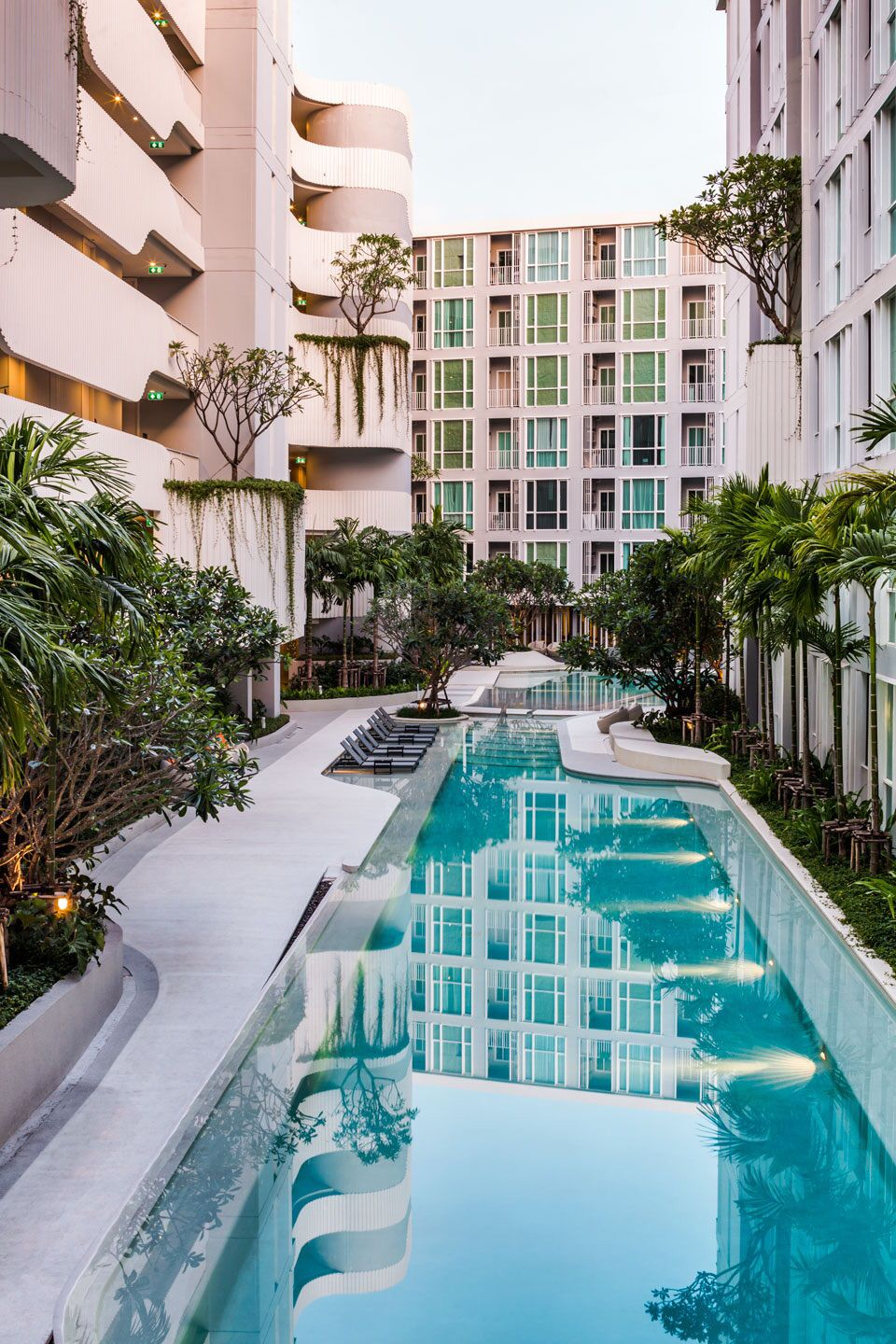 46 futuristic swimming pools - The Base Downtown Phuket Architectural And Landscape Design By Opnbx Openbox Architects Ltd City Condominium Located
