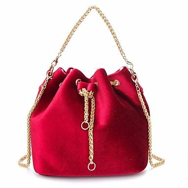 05224579ca9f Match your evening bag with your style! What do you think of this velvet  tote? Find it in LightInTheBox for only $11.69 in Red / Dark Green / Light  Gray