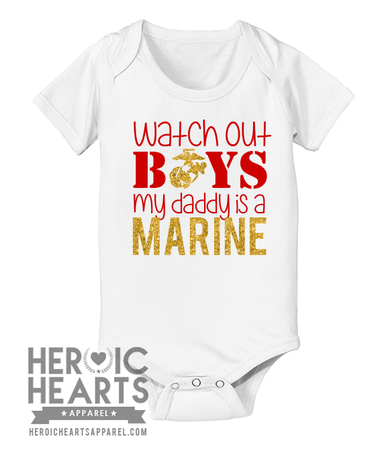 New Funny Personalised Long Sleeve Baby Vest My Daddy is my Hero