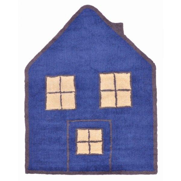 Tappeti in cotone 100 a forma di casetta, ecologici e