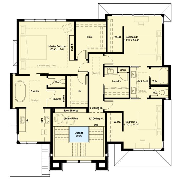 Plan 64100cal Exclusive 3 Level Modern Home Plan Modern House Plans House Plans Contemporary House Plans