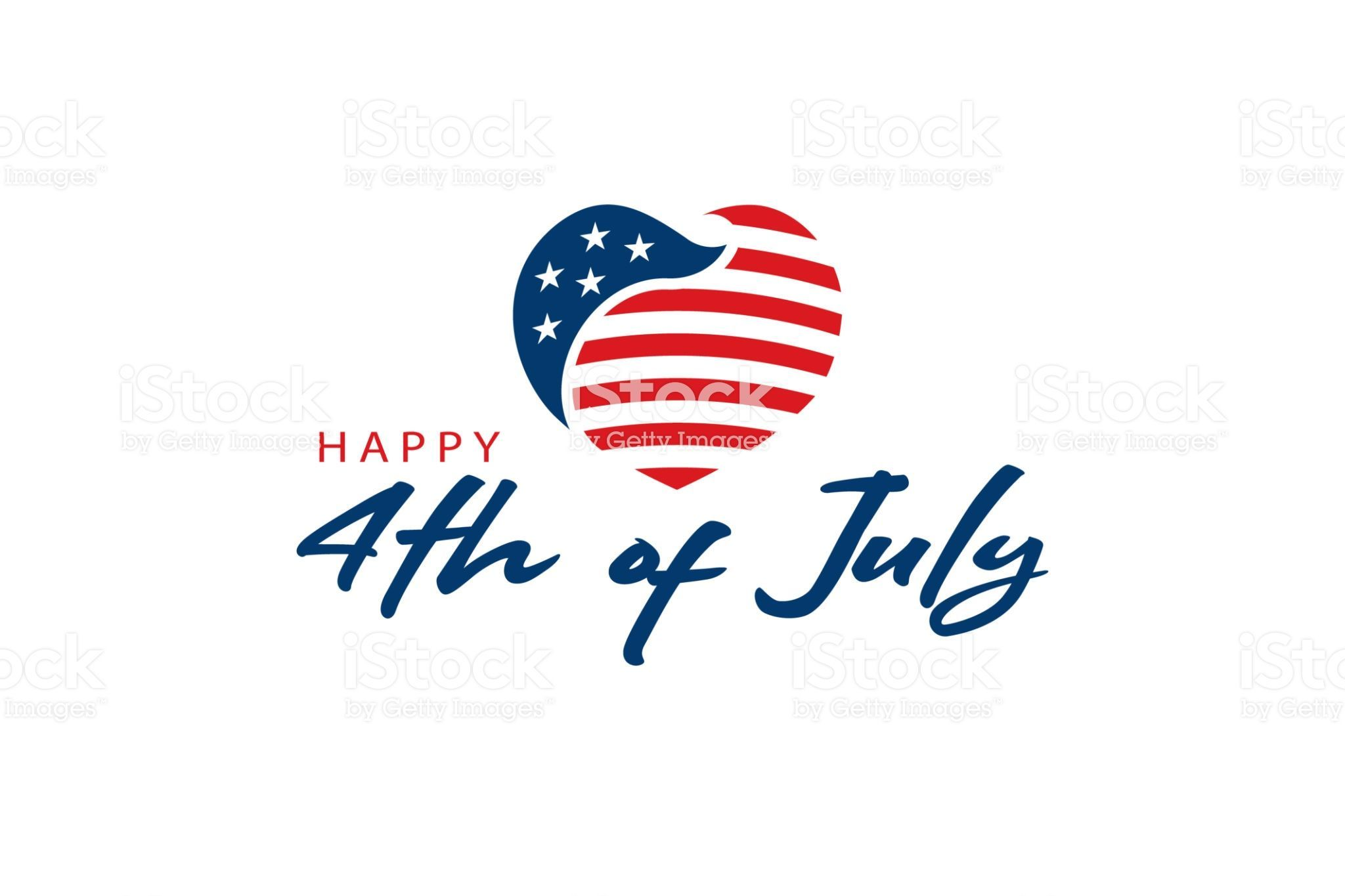 Usa Flag And 4th Of July Text Patriotic Concept Logodesign Logo Logos Logostockimages Usa America Flag American 4thof Text Logo Text Free Vector Art